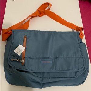 Vera Bradley Blue And Orange Messenger Bag